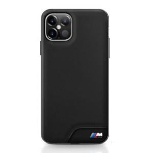 BMW M Smooth PU Leder Hülle iPhone 12 / 12 Pro 6,1 Schwarz BMHCP12MMHOLBK