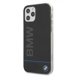 BMW Hard Case PC + TPU Blue Line Hülle iPhone 12 / 12 Pro 6,1 Schwarz BMHCP12MPCUBBK