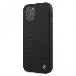 BMW iPhone 12 / 12 Pro 6,1 Signature Logo Imprint Hülle / Cover / Case / Etui Schwarz