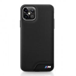 BMW M Smooth PU Leder Hülle iPhone 12 mini 5,4 Schwarz BMHCP12SMHOLBK