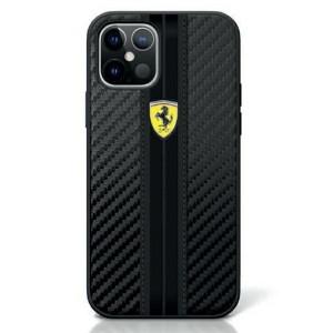 Ferrari On Track Carbon Hülle iPhone 12 / 12 Pro 6,1 FESNECHCP12MBK