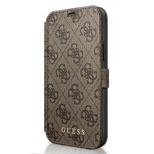 GUESS iPhone 12 Pro Max 6,7 Handytasche PU Leder 4G Charms Braun GUFLBKSP12L4GB