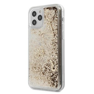 Guess iPhone 12 Pro Max Hülle / Cover / Case / Etui Glitter Charms Gold