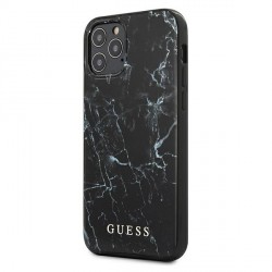 "GUESS iPhone 12 6,7"" Pro Max Cover / Case / Hülle Marble schwarz"