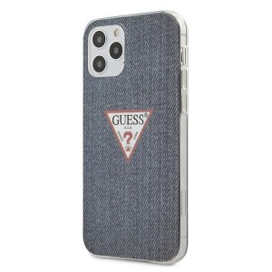 GUESS iPhone 12 / 12 Pro 6,1 Hülle Jeans Blau GUHCP12MPCUJULDB