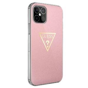 GUESS iPhone 12 / 12 Pro Hülle Metallic Kollektion GUHCP12MPCUMPTPI