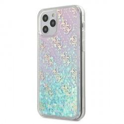 Guess iPhone 12 mini Hülle / Cover / Case / Etui Gradient Liquid Glitter 4G Pink