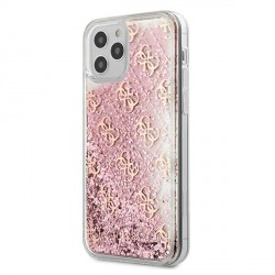 Guess iPhone 12 mini Hülle / Cover / Case / Etui Gradient Liquid Glitter 4G Rose