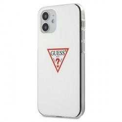 Guess iPhone 12 mini Case Cover Hülle Triangle weiß