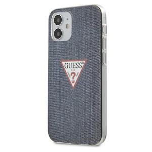 GUESS iPhone 12 Mini Hülle Case Cover Jeans Blau GUHCP12SPCUJULDB