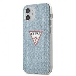 GUESS iPhone 12 mini 5,4 Hülle Jeans Blau GUHCP12SPCUJULLB