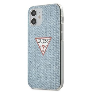 GUESS iPhone 12 mini 5,4 Hülle Jeans Blau GUHCP12SPCUJULLB