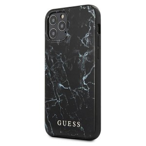 GUESS iPhone 12 mini Hülle / Cover / Case / Etui Marmor schwarz