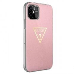Guess iPhone 12 mini Hülle Metallic Kollektion GUHCP12SPCUMPTPI