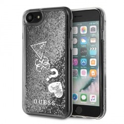 Guess iPhone SE 2020 / 8 / 7 Glitter Charms silber GUOHCI8GLHFLSI