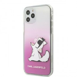 Karl Lagerfeld iPhone 12 Pro Max 6,7 Hülle Choupette Fun Pink KLHCP12LCFNRCPI