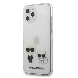 Karl Lagerfeld iPhone 12 Pro Max Hülle / Cover / Case Karl & Choupette Transparent KLHCP12LCKTR