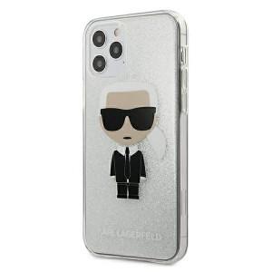 Karl Lagerfeld iPhone 12 Pro Max Hülle / Cover / Case Glitter Ikonik Karl KLHCP12LPCUTRIKSL