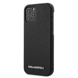 Karl Lagerfeld iPhone 12 Pro Max Hülle / Case / Cover schwarz KAMEO KLHCP12LPUKBK