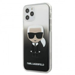 Karl Lagerfeld iPhone 12 Pro Max 6,7 Hülle Gradient Ikonik Karl schwarz