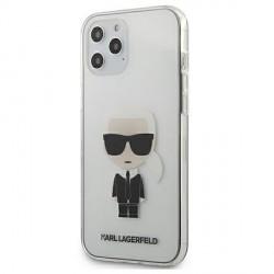 Karl Lagerfeld iPhone 12 Pro Max Hülle / Cover / Case Transparent Ikonik KLHCP12LTRIK