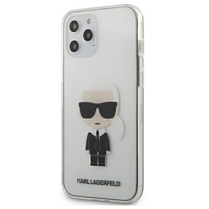 Karl Lagerfeld iPhone 12 Pro Max Hülle / Cover / Case Transparent Ikonik KLHCP12LTRIK