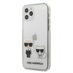 Karl Lagerfeld iPhone 12 / 12 Pro Hülle / Cover / Case Karl & Choupette Transparent KLHCP12MCKTR