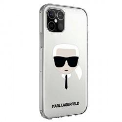 Karl Lagerfeld iPhone 12 / 12 Pro Hülle / Cover / Case Karl`s Head Transparent KLHCP12MKTR