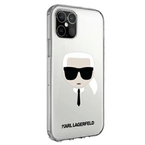 Karl Lagerfeld iPhone 12 / 12 Pro Hülle / Cover / Case Karl`s Head Transparent KLHCP12MKTR