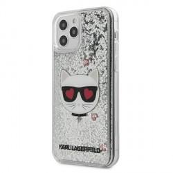 Karl Lagerfeld iPhone 12 / 12 Pro Hülle Cover Case Glitter Choupette KLHCP12MLCGLSL
