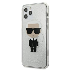 Karl Lagerfeld iPhone 12 / 12 Pro Hülle / Cover / Case Glitter Ikonik Karl KLHCP12MPCUTRIKSL