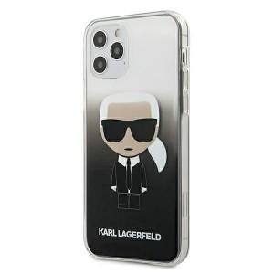 Karl Lagerfeld iPhone 12 / 12 Pro 6,1 Hülle schwarz Gradient Ikonik Karl