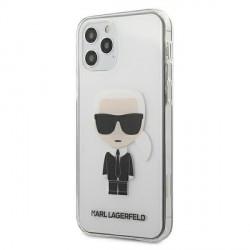 Karl Lagerfeld iPhone 12 / 12 Pro Hülle / Cover / Case Transparent Ikonik KLHCP12MTRIK