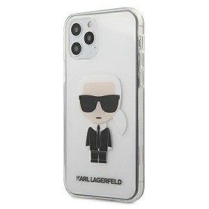 Karl Lagerfeld iPhone 12 / 12 Pro Hülle / Cover / Case Transparent Ikonik KLHCP12MTRIK