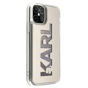 Karl Lagerfeld iPhone 12 mini Hülle Mirror Liquid Glitter Karl KLHCP12SKLMLGR