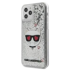 Karl Lagerfeld iPhone 12 mini 5,4 Hülle Glitter Choupette KLHCP12SLCGLSL