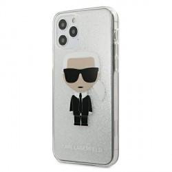 Karl Lagerfeld iPhone 12 mini Hülle / Cover / Case Glitter Ikonik Karl KLHCP12SPCUTRIKSL