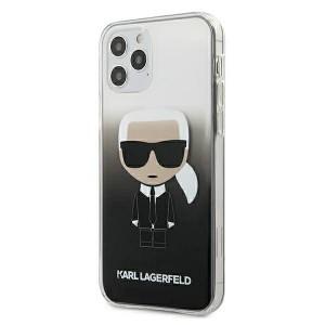 Karl Lagerfeld iPhone 12 mini 5,4 Hülle Gradient Ikonik Karl schwarz