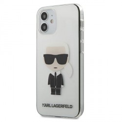 Karl Lagerfeld iPhone 12 mini Hülle / Cover / Case Transparent Ikonik KLHCP12STRIK