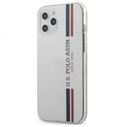 US Polo iPhone 12 Pro Max 6,7 Hülle Tricolor weiß USHCP12LPCUSSWH