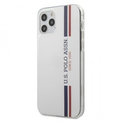 US Polo iPhone 12 / 12 Pro 6,1 Hülle Tricolor weiß USHCP12MPCUSSWH