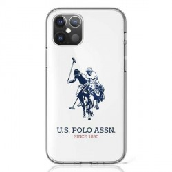 US Polo iPhone 12 / 12 Pro 6,1 Hülle Shiny Big Logo weiß USHCP12MTPUHRWH