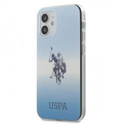 US Polo iPhone 12 mini 5,4 Hülle blau Gradient USHCP12SPCDGBL