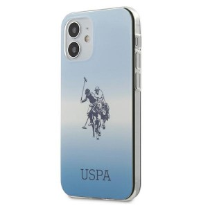 US Polo iPhone 12 mini 5,4 Hülle blau Gradient USHCP12SPCDGBL