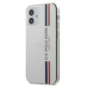 US Polo iPhone 12 mini 5,4 Hülle Tricolor weiß USHCP12SPCUSSWH