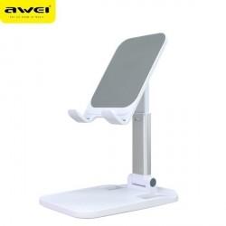 AWEI Universal Handy / Tablet Schreibtischhalter X11 weiß