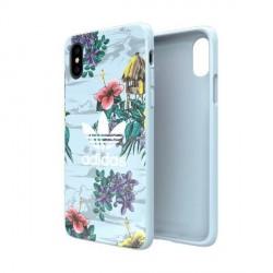 Adidas OR SnapCase / Hülle Floral iPhone X / Xs grau CJ8322