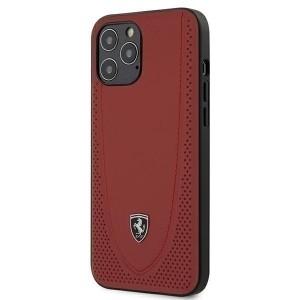 Ferrari Off Track Perforiert Lederhülle iPhone 12 Pro Max 6,7 Rot FEOGOHCP12LRE