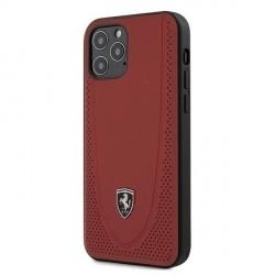 Ferrari Off Track Perforiert Lederhülle iPhone 12 / 12 Pro 6,1 Rot FEOGOHCP12MRE