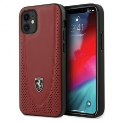 Ferrari Off Track Perforiert Lederhülle iPhone 12 mini 5,4 Rot FEOGOHCP12SRE